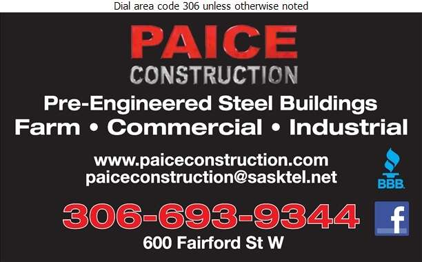 Paice Construction General Contractors - Contractors General Digital Ad