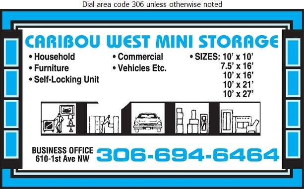 Caribou West Mini Storage - Storage- Household & Commercial Digital Ad
