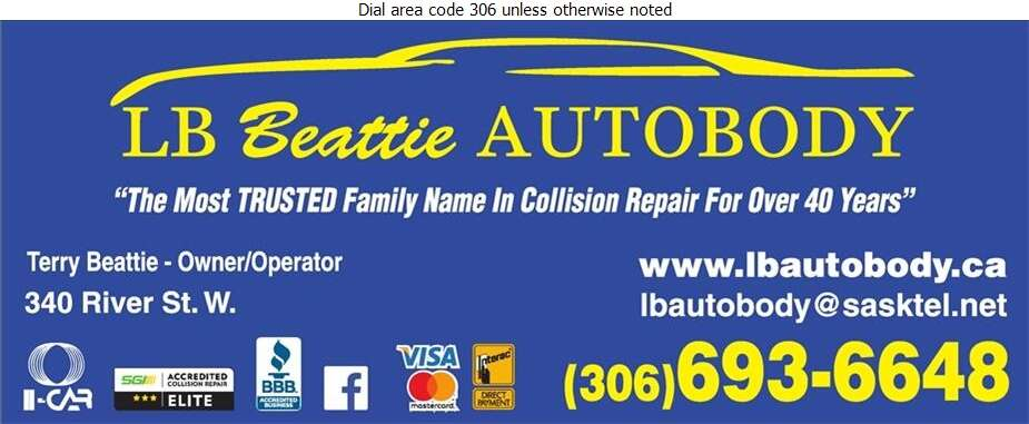 LB Beattie Autobody - Auto Body Repairing Digital Ad