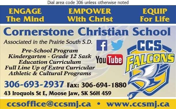 Cornerstone Christian School - Schools & Colleges Digital Ad