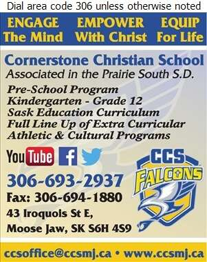 Cornerstone Christian School - Schools Nursery & Preschool Digital Ad