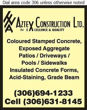 Aztex Construction Ltd - Concrete Contractors Digital Ad