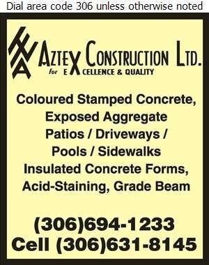 Aztex Construction Ltd - Concrete Contractors Digital Ad