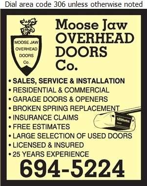 Moose Jaw Overhead Door Company - Doors Overhead Digital Ad