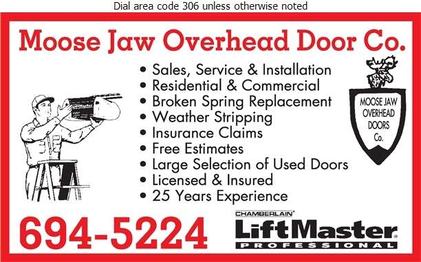 Moose Jaw Overhead Door Company - Doors Overhead Digital Ad