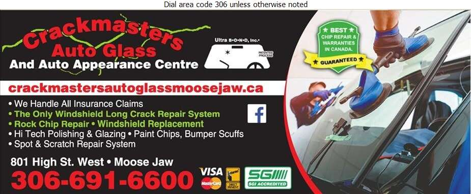 Crackmasters Auto Glass - Glass Auto, Float, Plate, Window Etc Digital Ad