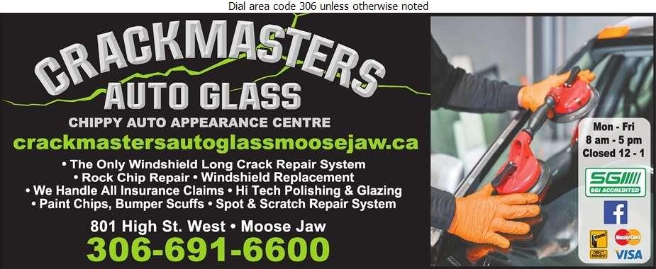 Crackmasters Auto Glass - Glass Auto, Float, Plate, Window Etc Digital Ad