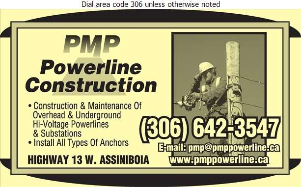 P M P Powerline Construction Ltd - Electric Contractors Digital Ad