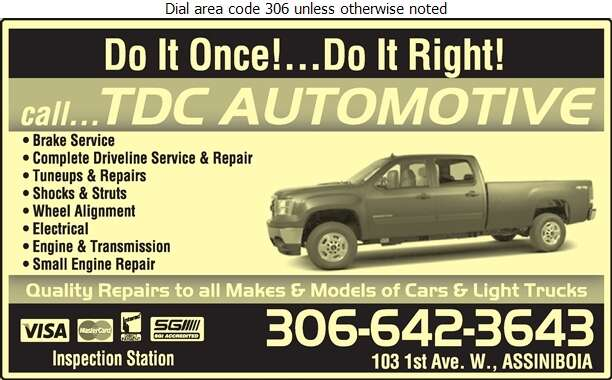 T D C Automotive & Towing (24 Hour Towing Call) - Auto Repairing Digital Ad