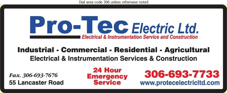 Pro-Tec Electric Ltd - Electric Contractors Digital Ad