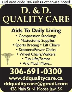 D & D Quality Care - Home Care Products Elderly & Disabled Digital Ad