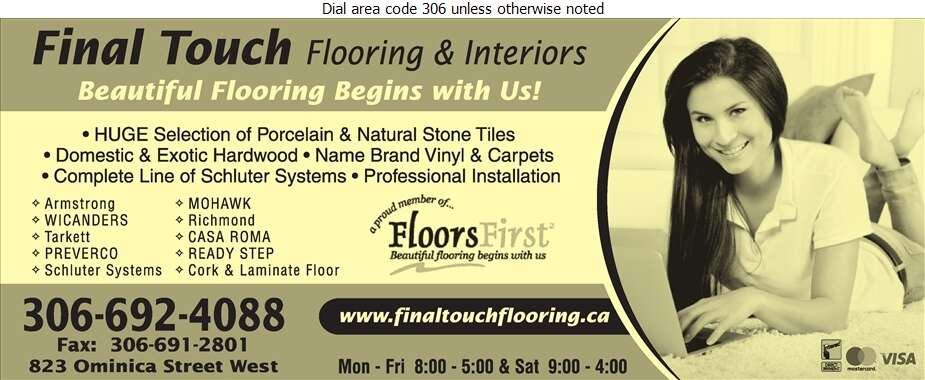 Final Touch Flooring & Interiors - Carpets & Rugs Retail Digital Ad