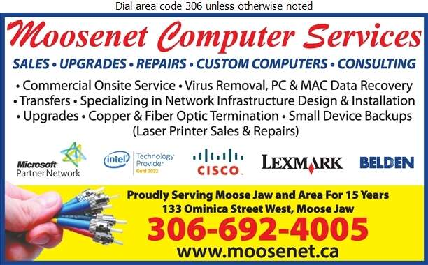 Moosenet Computer Services - Computers Digital Ad