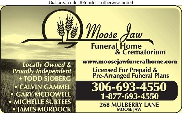 Moose Jaw Funeral Home - Funeral Homes & Planning Digital Ad