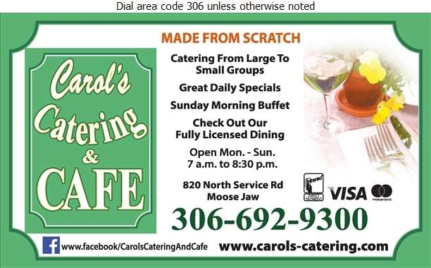 Carol's Catering & Cafe (Full Licensed) - Restaurants Digital Ad