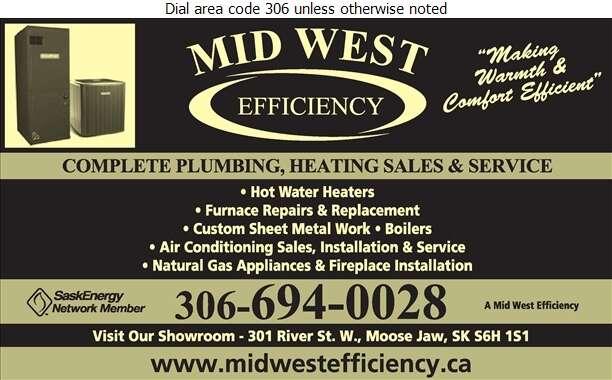 Mid West Efficiency Heating Plumbing Cooling Ltd - Heating Contractors Digital Ad