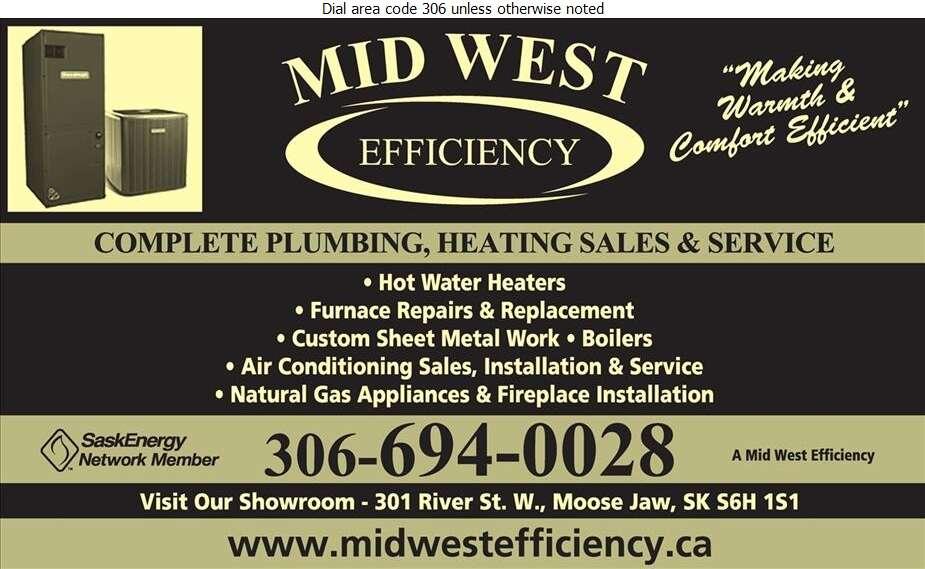 Mid West Efficiency Heating Plumbing Cooling Ltd - Plumbing Contractors Digital Ad
