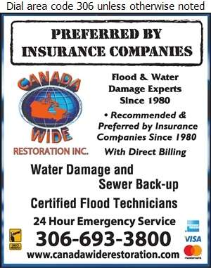 Canada Wide Restoration Inc - Flood Damage Restoration & Floodproofing Digital Ad