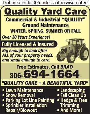 Quality Yard Care - Landscape Contractors & Designers Digital Ad