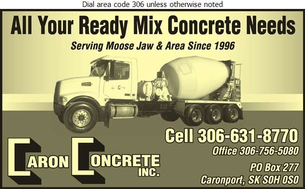 Caron Concrete - Concrete Ready Mixed Digital Ad