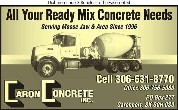 Caron Concrete - Concrete Ready Mixed Digital Ad