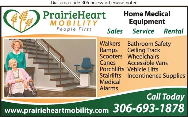 PrairieHeart Mobility - Home Care Products Elderly & Disabled Digital Ad