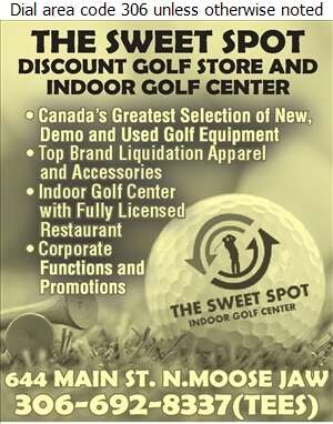 Sweet Spot Discount Golf The - Golf Equipment & Supplies Retail Digital Ad