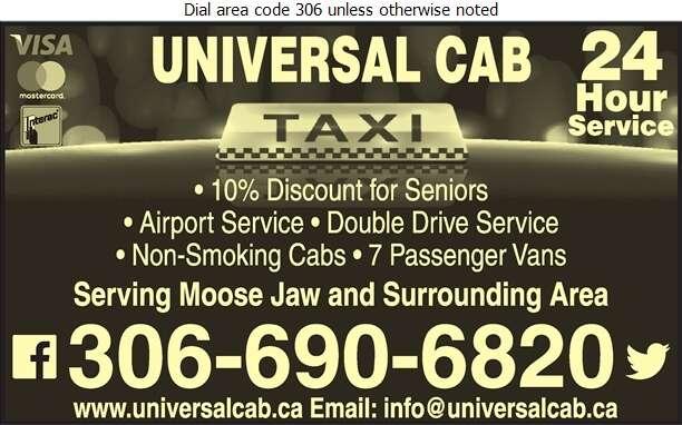 Universal Cab - Taxicabs Digital Ad