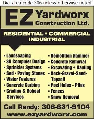 EZ Yardworx & Construction Ltd - Landscape Contractors & Designers Digital Ad