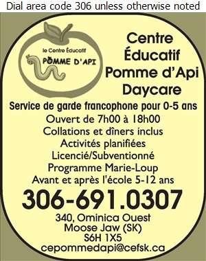 Centre Educatif Pomme D'Api - Day Care Centres & Nurseries Digital Ad