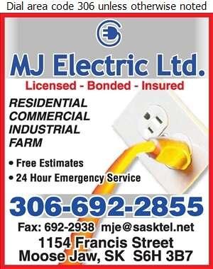M J Electric Ltd - Electric Contractors Digital Ad