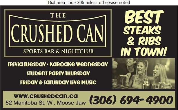 The Crushed Can Sports Bar & Nightclub - Restaurants Digital Ad
