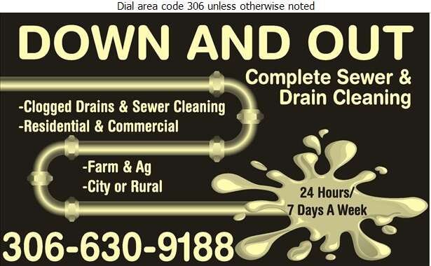 Down and Out - Plumbing Contractors Digital Ad