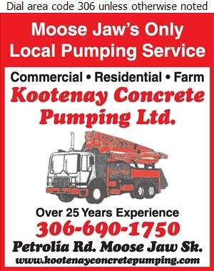Kootenay Concrete Pumping Ltd - Concrete Pumping Service Digital Ad