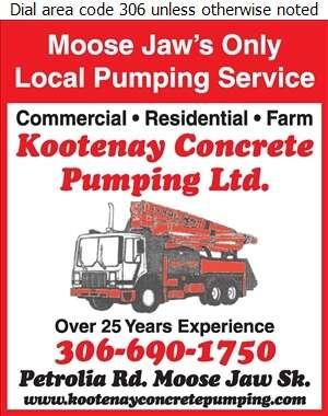 Kootenay Concrete Pumping Ltd - Concrete Pumping Service Digital Ad