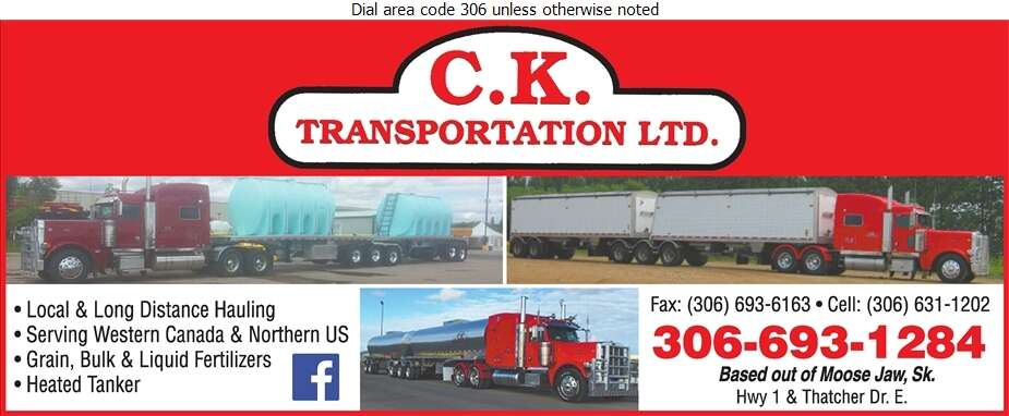 CK Transportation Ltd - Trucking Digital Ad