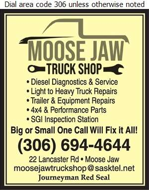 Moose Jaw Truck Shop - Truck Repairing & Service Digital Ad