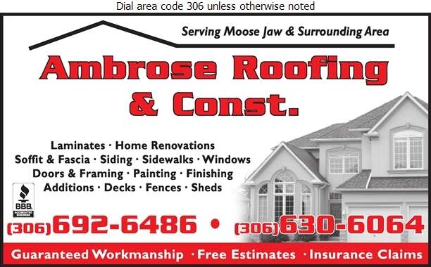 Ambrose Roofing & Construction - Roofing Contractors Digital Ad