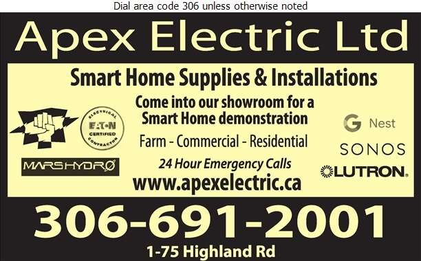 Apex Electric Ltd - Electric Contractors Digital Ad