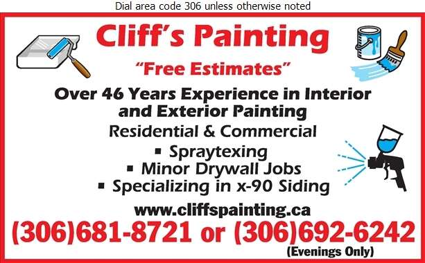 Cliff's Painting - Painting Contractors Digital Ad