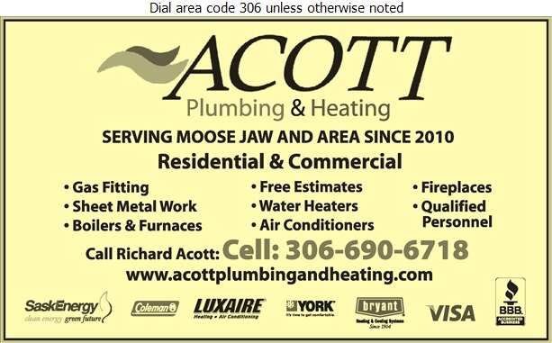 Acott Plumbing & Heating - Plumbing Contractors Digital Ad