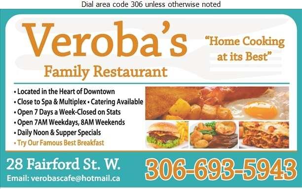 Veroba's Family Restaurant - Restaurants Digital Ad