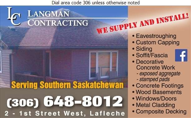 Langman Contracting - Eavestroughing Digital Ad