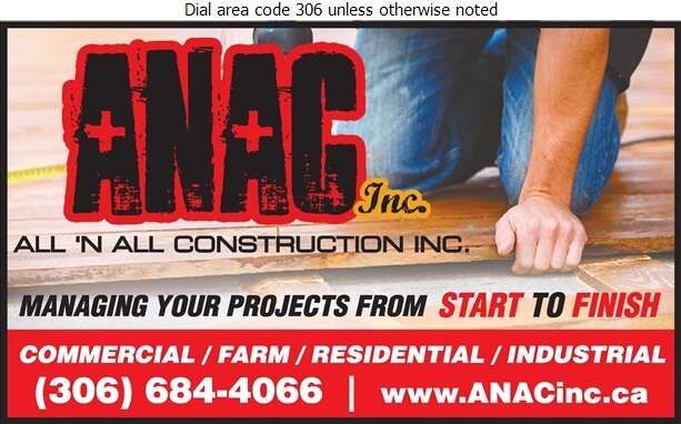 All 'N All Construction Inc - Contractors General Digital Ad