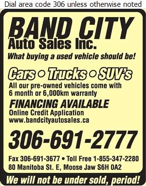 Band City Auto Sales - Auto Dealers Used Cars Digital Ad