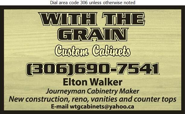 With The Grain Custom Cabinets - Kitchen Cabinets & Equipment Digital Ad