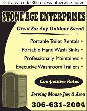 Stone Age Enterprises - Toilets Portable Digital Ad