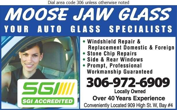 Moose Jaw Glass - Glass Auto, Float, Plate, Window Etc Digital Ad