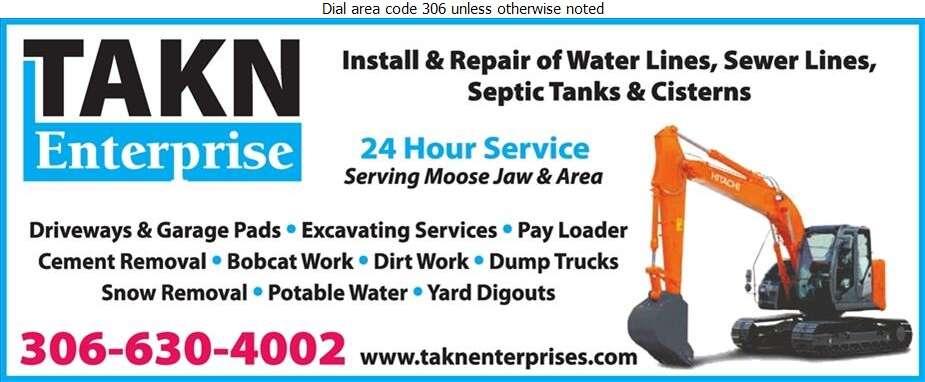 TAKN Enterprise - Excavating Contractors Digital Ad