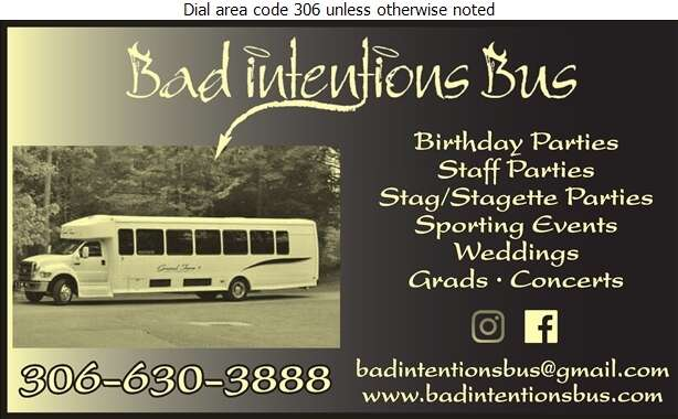 Bad Intentions Bus - Limousine Service Digital Ad
